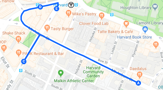 Harvard Square Bar Crawl Map
